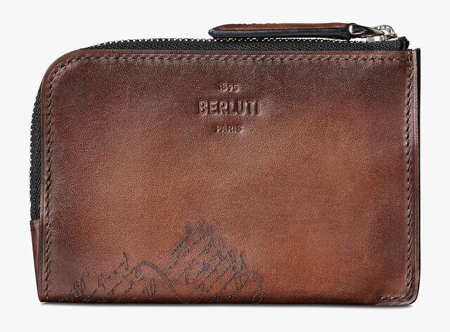 Epure Scritto Calf Leather Key Case, MOGANO, hi-res