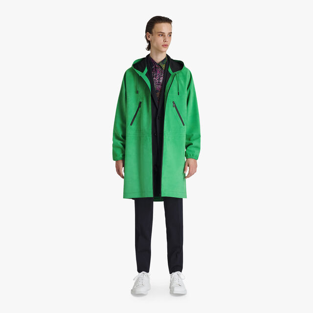Parka En Cuir Technique, CLOVER GREEN, hi-res