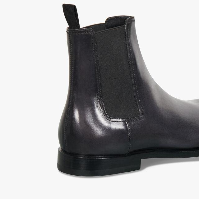 Caractère Éclair Calf Leather Boot, GRAPHITE, hi-res