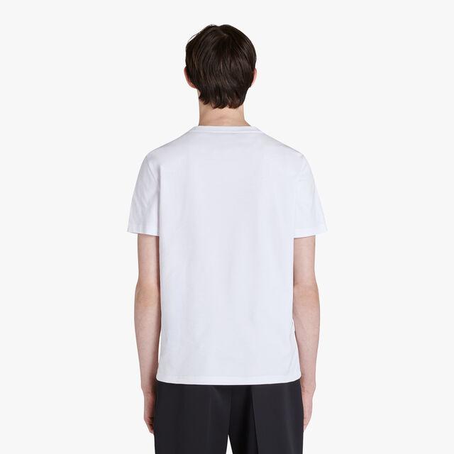 有小牛皮口袋的棉T恤衫, BLANC OPTIQUE, hi-res