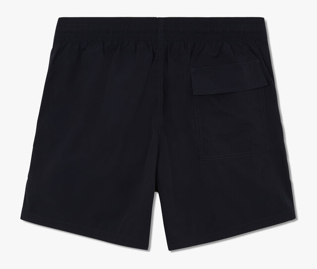 Mid-Length Swim Short With Fluo Details, CAOS NIGHT, hi-res