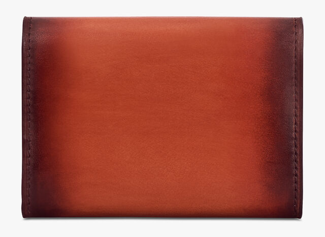 Imbuia Scritto Leather Card Holder, TERRACOTTA, hi-res
