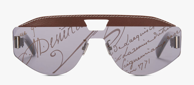 Cosmic Acetate And Leather Sunglasses, BROWN, hi-res