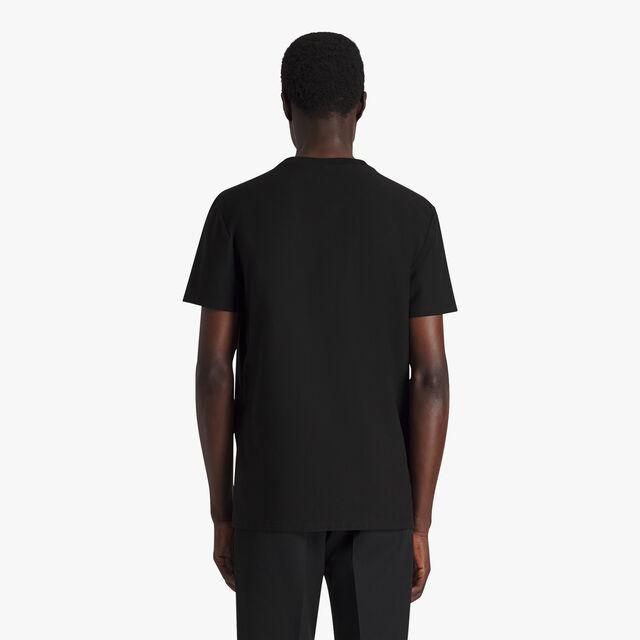 T-Shirt En Coton Avec Logo En Éponge, NOIR, hi-res