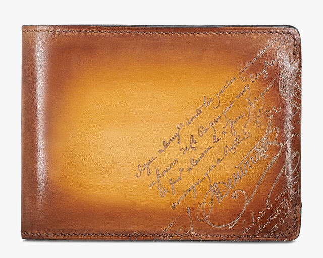 Essentiel Epure Scritto Leather Wallet, ICE GOLD, hi-res