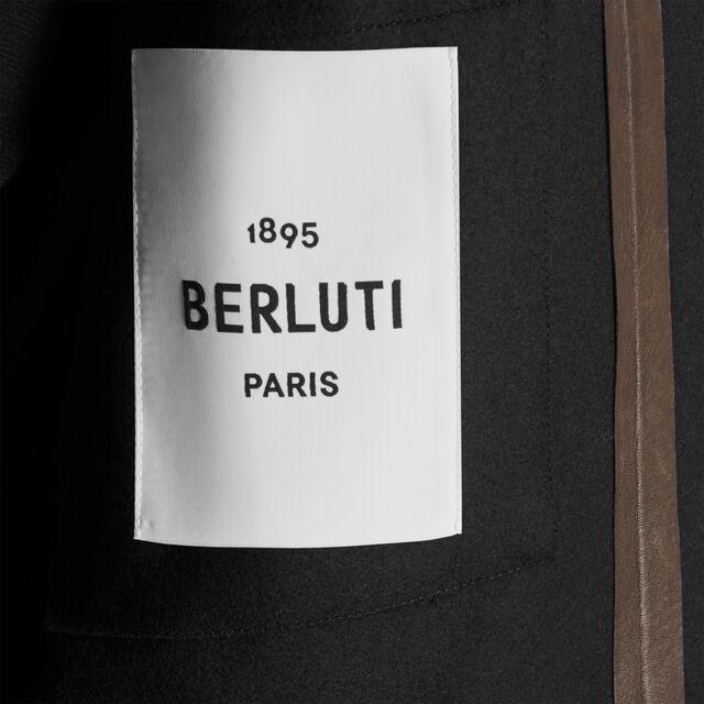 尼龙与羊毛混纺绗缝外套式衬衫, NOIR, hi-res
