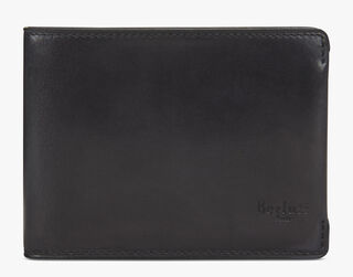 Essentiel Compact Calf Leather Wallet, DEEP BLACK, hi-res