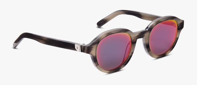 Acetate Eclipse Eyewear, GREY HORN+AMARANTINE, hi-res
