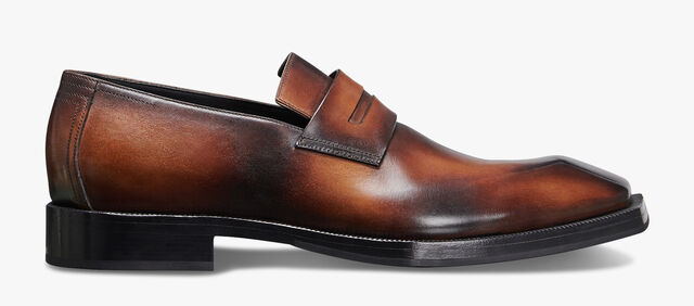 Andy Edge Calf Leather Loafer, CLOUDY BROWN, hi-res