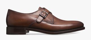 Classic Roccia Leather Buckle Shoe, MATTONE, hi-res