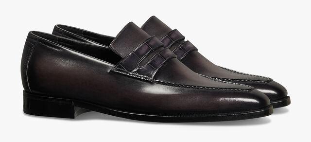 ANDY DÉMESURE 鳄鱼皮乐福鞋, NERO GRIGIO, hi-res