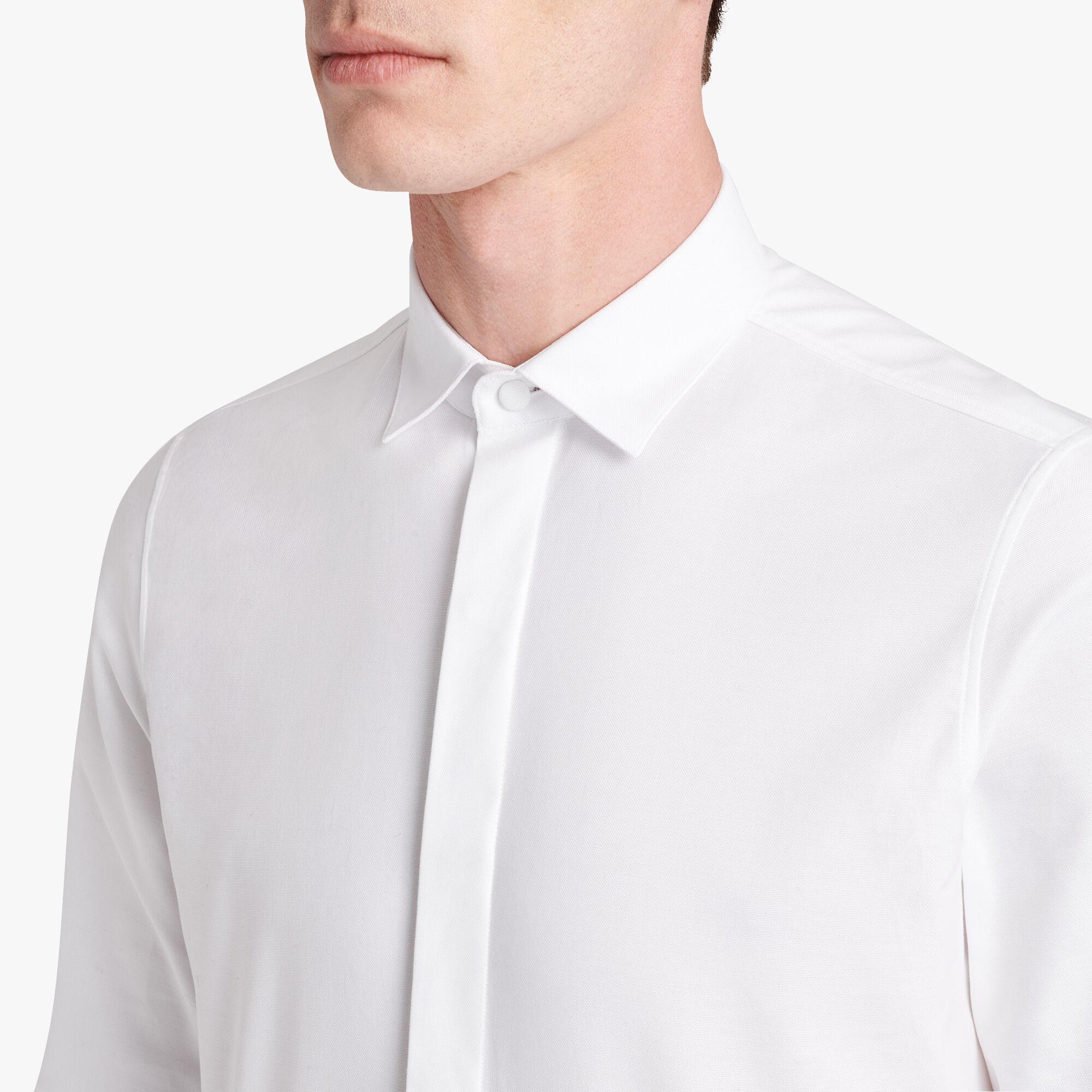コットンシャツ, BLANC OPTIQUE, hi-res