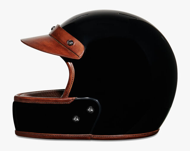 Leather Helmet, BRUN, hi-res