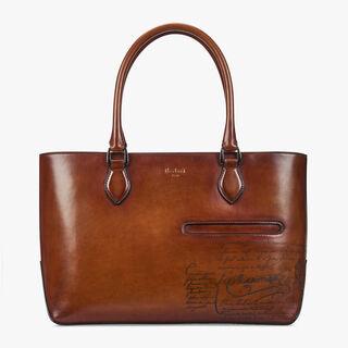 Toujours Mini Leather Tote, COGNAC, hi-res