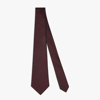 Cravate Scritto En Soie, ROXO, hi-res