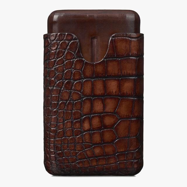 鳄鱼皮4支装雪茄盒, MOGANO, hi-res