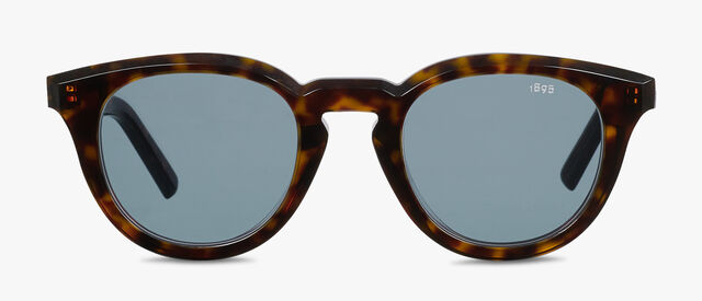 Halo Round Shape Acetate Sunglasses, DARK HAVANA, hi-res