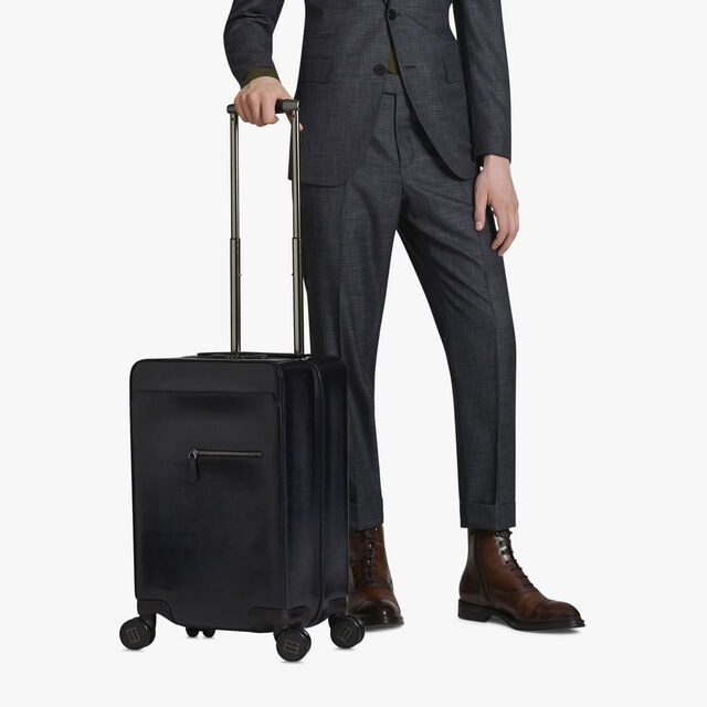 Formula 1004 Leather Rolling Suitcase, NERO GRIGIO, hi-res