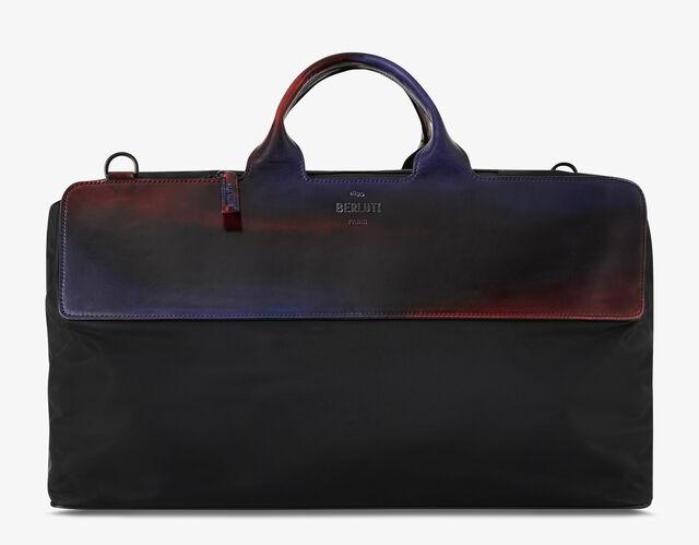 Cube Nylon & Venezia Calf Leather Travel Bag