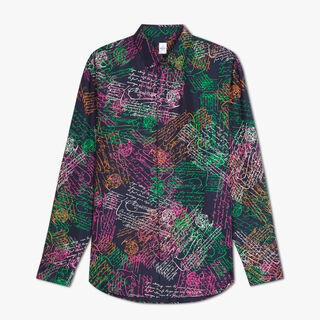 Oversize Silk Printed Shirt