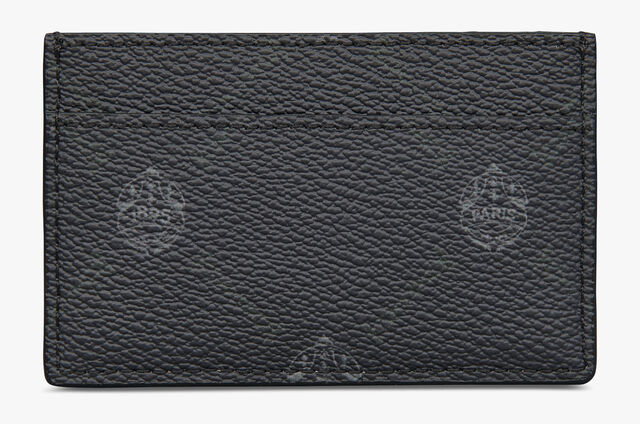 Séjour Canvas And Leather Card Holder, BLACK+AQUA BLUE, hi-res