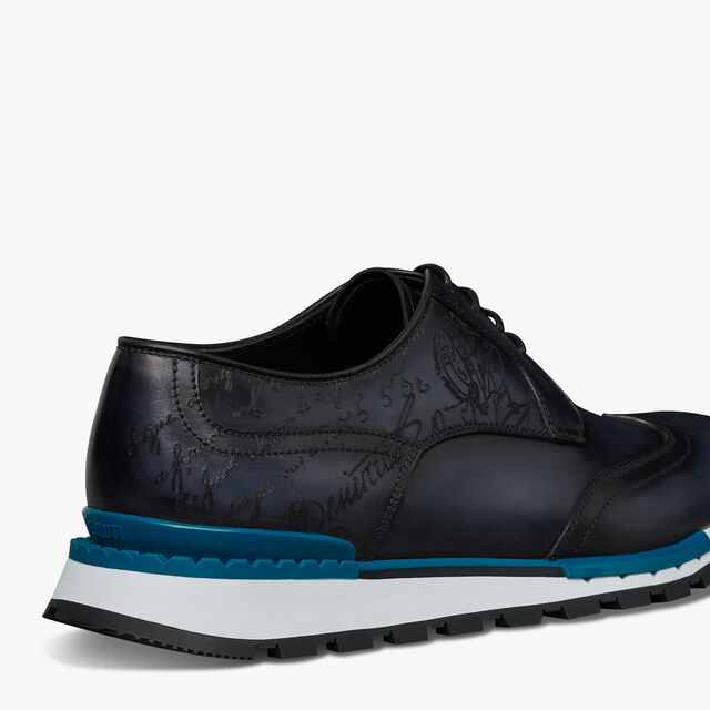 Fast Track Scritto Leather Sneaker, OCEANIC WAVE, hi-res