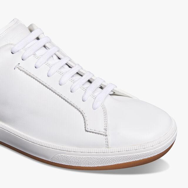 Burano Outline皮革运动鞋, BIANCO/MOGANO, hi-res