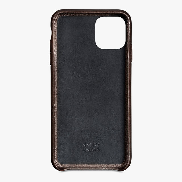 iPhone 11 Pro Max Scritto Leather Case, ICE BROWN, hi-res