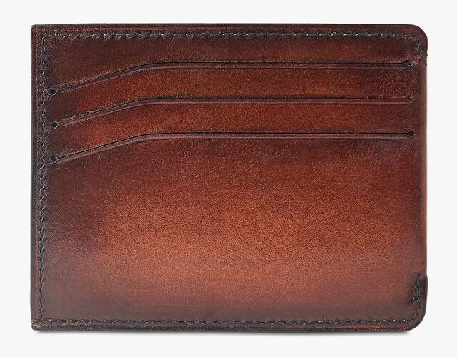 Bambou Epure Leather Card Holder, MOGANO, hi-res