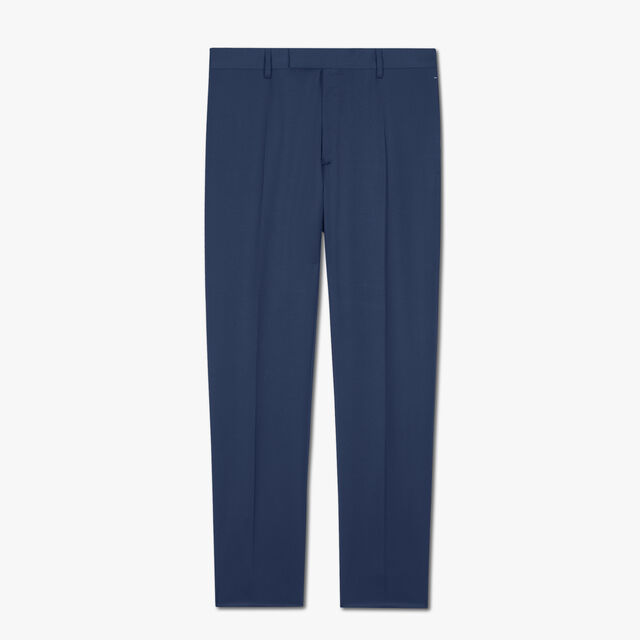 Regular Fit Wool Trousers, SPACE BLUE, hi-res