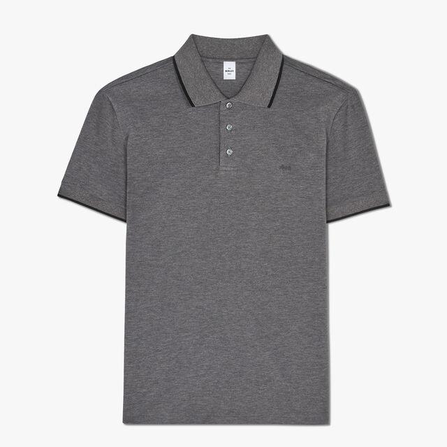 Polo En Coton Avec Logo Brodé - Coupe Regular, LEAD, hi-res
