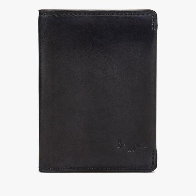 Ideal Leather Card Holder, DEEP BLACK, hi-res
