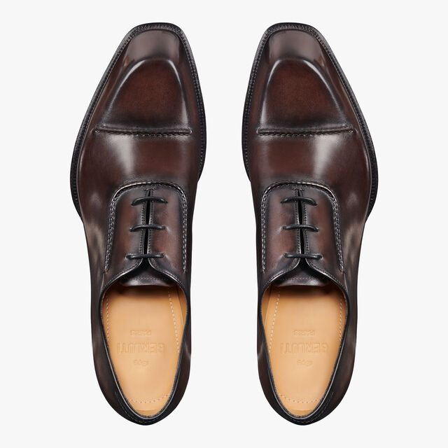 Arthur Lateral Leather Oxford, ICE BLACK, hi-res