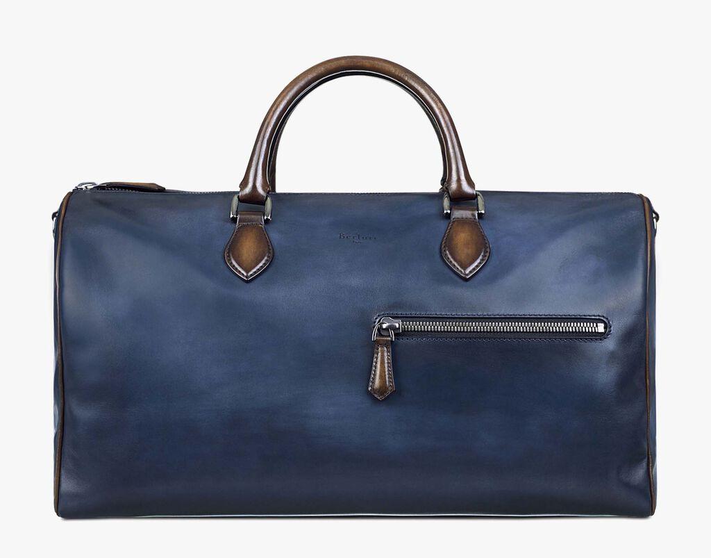 Jour Off Calf Leather Travel Bag Indigo Denim Hi Res