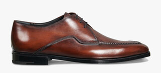 Asymetrique Démesure Calf Leather Derby, BRUN, hi-res