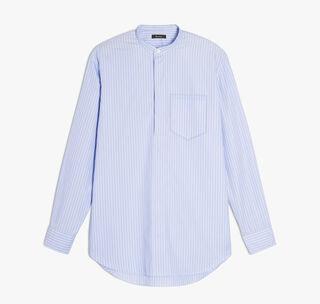 Striped Cotton Shirt, RAYURE HORTENSIA / WHITE, hi-res