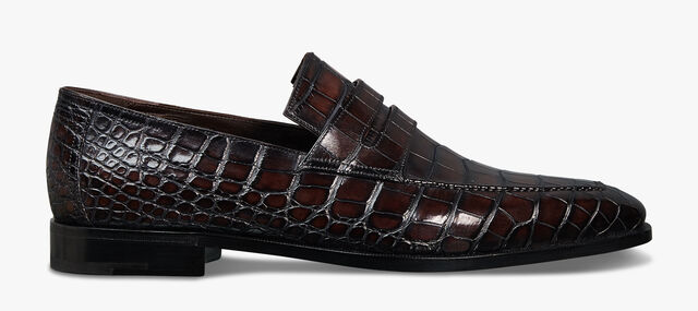 Alligator Patent Leather Loafers