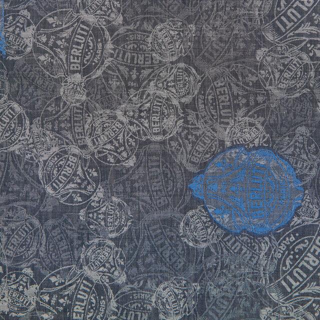 Crest Jacquard Scarf, SPACE BLUE, hi-res