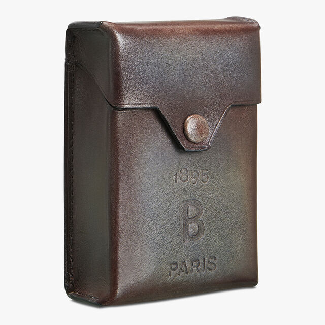 Leather Cigarette Case, ICE BROWN, hi-res