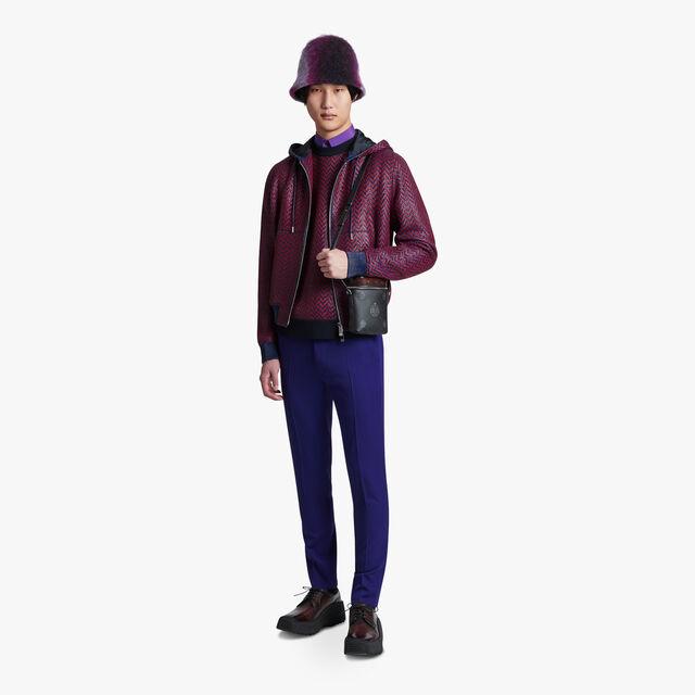 Weaving Leather B-Way, RED OCHER / DARK INDIGO, hi-res