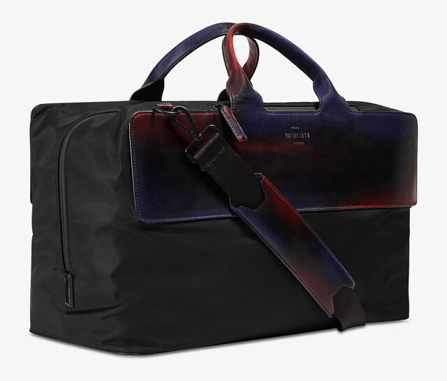 Cube Nylon & Venezia Calf Leather Travel Bag, NEW WAVE, hi-res