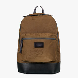 Volume Nylon Backpack, KAKI, hi-res