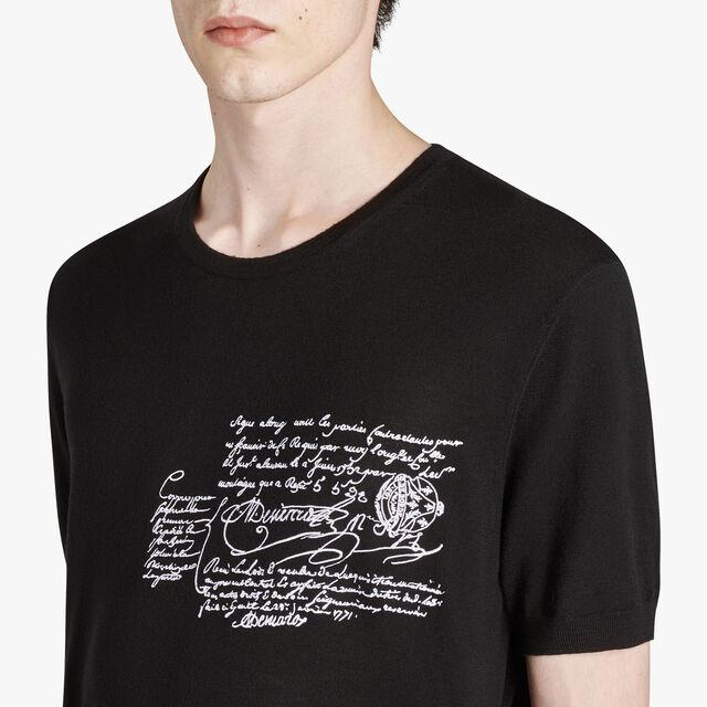 ウールクルーネックセーター, NOIR, hi-res