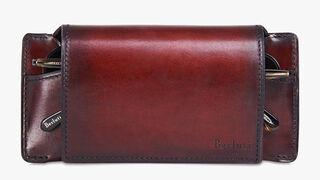 Calf Leather Sunglasses Case, BLOOD SCURO, hi-res