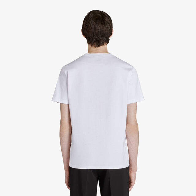 Cotton Jersey T-Shirt With Embroidered Logo, BLANC OPTIQUE, hi-res