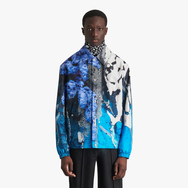Brian Rochefort Printed Silk Jacket, BR 3 BLUE, hi-res