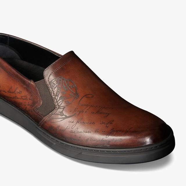 Tibeta Scritto 皮革懒人鞋, BRUN, hi-res