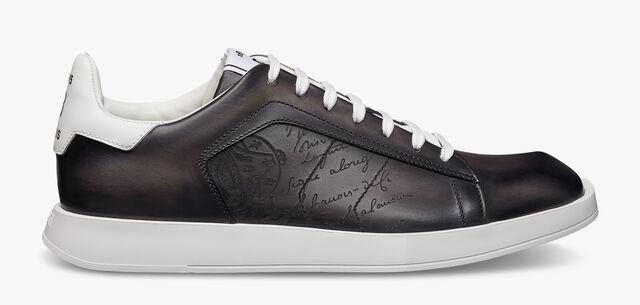 Stellar Scritto Leather Sneaker, FLANEL, hi-res