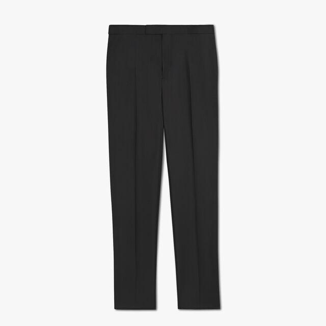 Wool & Mohair Evening Trousers, NOIR, hi-res