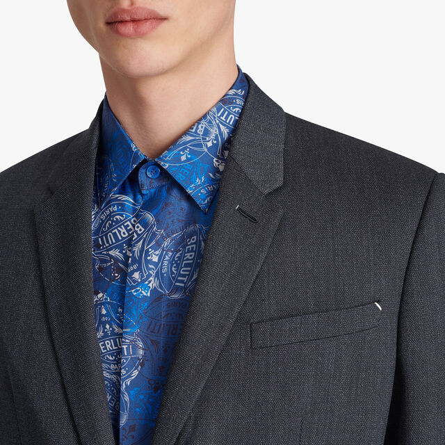 Unlined Herringbone Jacket